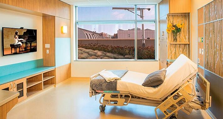 Комфортные палаты в больнице UCSF